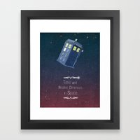 Time And Relative Dimens… Framed Art Print