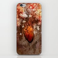 This Bleeding Blossoming Heart iPhone & iPod Skin
