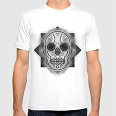 White skull Mens Fitted Tee SMALL White