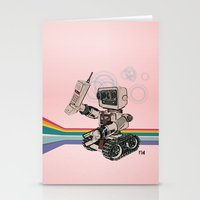 1980s Corporate Robot Stationery Cards