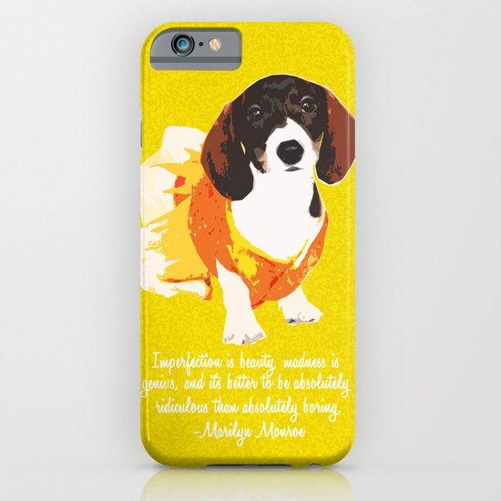 """Jujube"" ~ Marilyn Monroe Quote ~ Dachshund, Weiner Dog, Doxie, everywhere! iPhone & iPod Case"