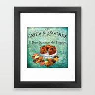 Framed Art Print featuring Sweets Vintage Poster 02 by Aloke Design