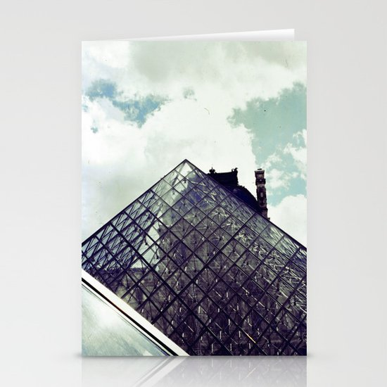 Louvre Pyramid I Stationery Card