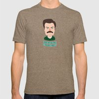 Ron Swanson / Parks And … Mens Fitted Tee Tri-Coffee SMALL