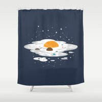 Egg Dimension Shower Curtain