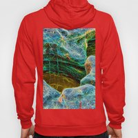 Abstract rocks with barnacles and rock pool Hoody