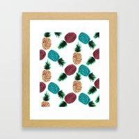 Weird Pineapples Framed Art Print