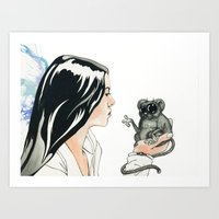 Portrait, Mind Blown Art Print