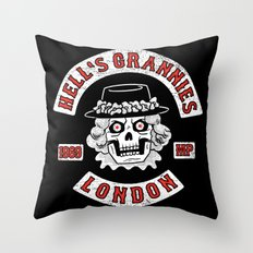 Hell's Grannies 1969 Throw Pillow