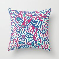 - summer sea jungle - Throw Pillow