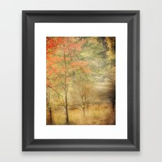 Fall red Framed Art Print