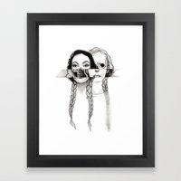 Flesh, Bone, And Braids Framed Art Print