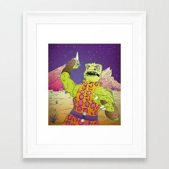 Dog Gorn It! Framed Art Print