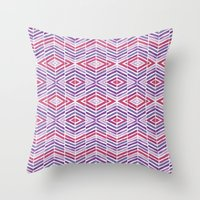 Gem Tone Watercolor Diam… Throw Pillow