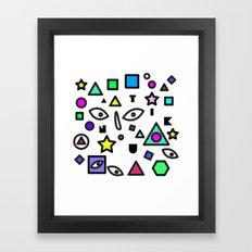 Random Geometric space  Framed Art Print