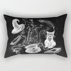 Witch, Cat, and Cauldron Rectangular Pillow