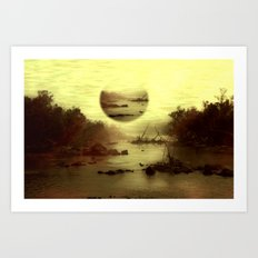Illusive visions float above my head... Art Print