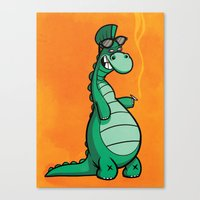Denver the last Dinosaur Canvas Print