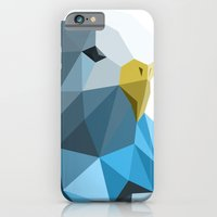 iPhone & iPod Case featuring Geometric blue parakeet by Lina Littlefield