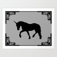 Unicorn shadow Art Print
