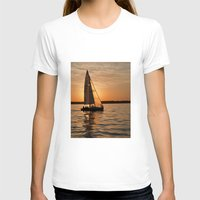 Sail into the sunset Womens Fitted Tee White SMALL