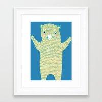 Surprise Bear Framed Art Print
