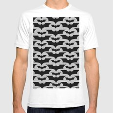 Bats SMALL Mens Fitted Tee White
