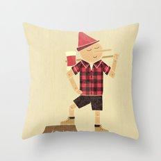 Wrong Guy For The Job Throw Pillow