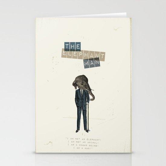 The elephant man Stationery Card