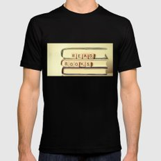 Read Books SMALL Mens Fitted Tee Black