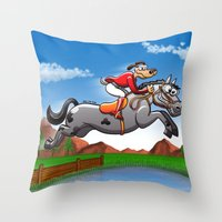 Olympic Equestrian Jumpi… Throw Pillow