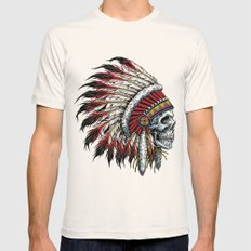 Indian Skull Mens Fitted Tee Natural SMALL