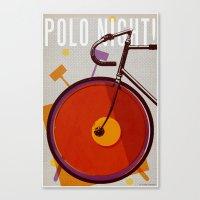 Polo Night!   Track Canvas Print
