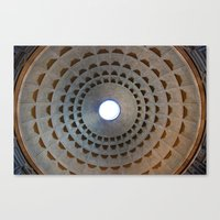 Pantheon Dome In Rome, I… Canvas Print
