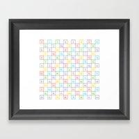 Periodic Pattern Framed Art Print