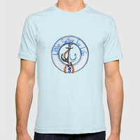 SS Mens Fitted Tee Light Blue SMALL