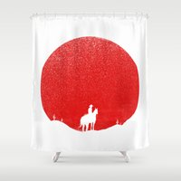 The Rising Sunset Shower Curtain