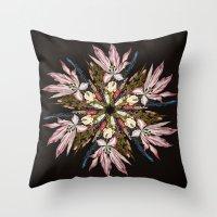 Flemish Floral Mandala Throw Pillow