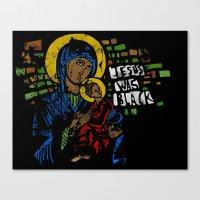 Jesus Was Black Canvas Print