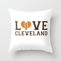 LUV Cleveland Throw Pillow