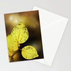 yellow leaves. Stationery Cards