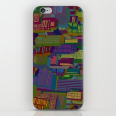 Cityscape night iPhone & iPod Skin