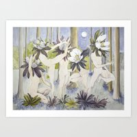 Dance of the Winter Aconite Art Print