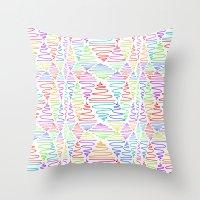 Neon Pillar Throw Pillow
