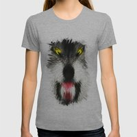 MAD WOLF Womens Fitted Tee Athletic Grey SMALL