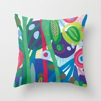 Secret garden I  Throw Pillow