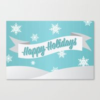 Holiday Snow Canvas Print