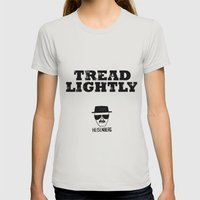 Breaking Bad - Tread Lightly - Heisenberg Womens Fitted Tee Silver SMALL