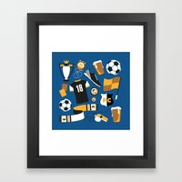 Football Fan Framed Art Print