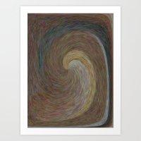 Amber Wave Art Print